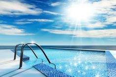 Swimming pool construction costs are depend on the design, which includes the material, and also the parts. The above ground and the in ground swimming pool requires different construction technic Small Inground Swimming Pools, Swimming Pool House, Swimming Pool Water, Swimming Pool Construction, Construction Cost, Skimmer Pool, Pool Companies, Pool Heater, Outdoors