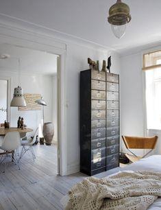 Danish Designer Birgitte Rabens' Home, File Cabinets as Dresser | Remodelista