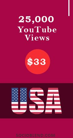 Get 25,000 Youtube views for just $33. #Increase #YouTube #Views #USA #BuyYoutubeViews
