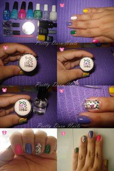 how to make homemade nail art stickers
