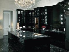 Vintage + Modern Black Kitchen