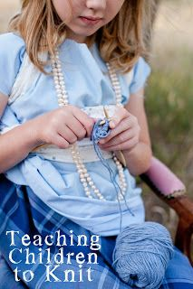Teaching knitting in a simple way… Not just children… SHARE THE JOY