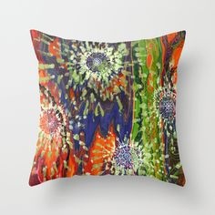 Induced Cosmic Revelations (Four Dreams, In Mutating Cycle) Throw Pillow, $20.