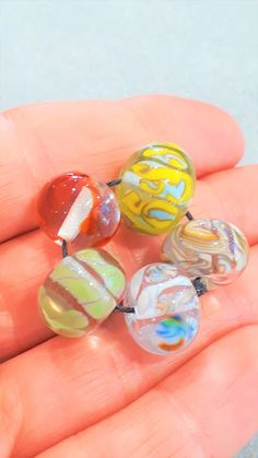 Lampwork Glass bead set by bdenglass on Etsy