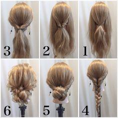 【巻かなくてもできるヘアアレンジ☆】 リクエストにお応えします✨ 保存して練習してみて下さい やってみて上手くできたらいいね☆お願いします✨ リクエストをいただいたヘアアレンジです☆ぜひチャレンジしてみてください 1.真ん中と両サイドに分けます。 2.真ん中をくるりんぱします。 3.両サイドもくるりんぱします。 4.毛先を三つ編みにします。 5.三つ編みをくるりんぱの穴に入れてピンで留めます。 6.全体をほぐします。 ワンポイントアドバイス☝️✨ くるりんぱは首にそうように、三つ編みをくるりんぱの穴に入れるときはキッチリ入れてください☺✨上手くできた方、質問やリクエストがある方はコメント下さい✨ #女性の印象を変えるヘアアレンジ術 #たつやアレンジ #大人女子 #アレンジ動画 #ヘアアレンジ練習 #ヘアアレンジやり方 #ヘアアレンジ #ヘアアレンジ簡単 #ポニーテール #シンプルヘアアレンジ #表参道美容室 #吉田達弥 #お団子ヘア #結婚式ヘアセット #ヘアアレンジプロセス #ヘアアレンジ動画 #簡単ヘアアレンジ #ゴ...