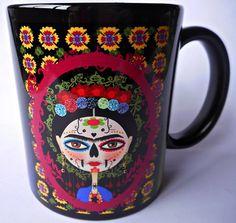 Caneca Faces de Frida Kahlo - Mod. 15