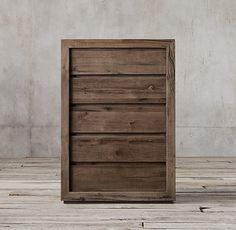 Reclaimed Russian Oak 5-drawer Narrow Dresser