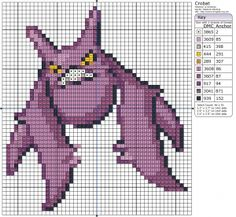 Pokémon – Crobat 40-50 x 50-60, A - D, Animals, Bats, Birdie's Patterns, Crobat, Gaming, Pokémon 0 Comments Dec 142012