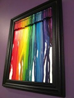 Melted crayons art. Looks great in black frame.