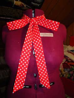 Mickey Mouse Red Polka Dots Cravat bow tie Cosplay scarf DOCTOR WHO inspired