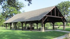 timber frame Outdoor Seating Pavilion Golf Course project                                                                                                                                                                                 More