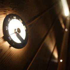 Sauna Gadget - Helo lit thermometer