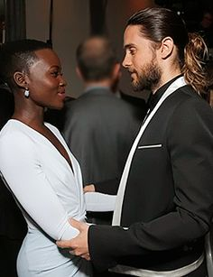 Jared Leto and Lupita Nyong'o- I literally love everything about this pic!!!