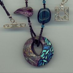 polymer clay pendant by Four Winds Jewelry