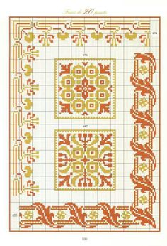 Seccade örneği olabilir. Cross Stitch Rose, Cross Stitch Borders, Crochet Borders, Cross Stitch Alphabet, Cross Stitching, Seed Bead Patterns, Cross Patterns, Weaving Patterns, Counted Cross Stitch Patterns