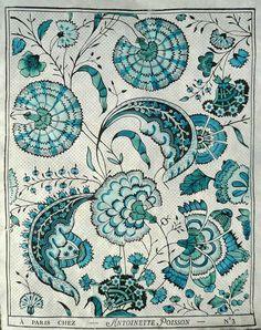turquoise swirly botanicals (Prints of Orange)