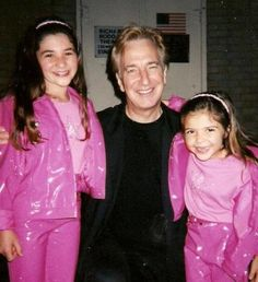 Alan Rickman with his nieces Amy Jane and Claire Rickman (Sheila Rickman's daughters) The girl on the right is Bellaray Bertrand-Webb, the daughter of his family friend, actor Danny Webb. The girl on the left may be either a friend or a relative. They are not Amy and Claire Rickman.