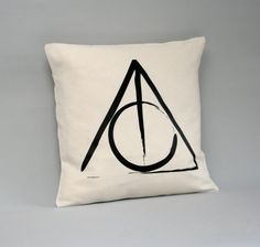 Housse de coussin de Harry Potter - Deathly Hallows coussins/couverture - Harry Potter-coussins - 16 x 16, 18 x 18, 20 x 20, 24 x 24, 26 x 26-