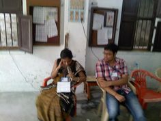 Suchandra Ganguly and Avik Ghatak, CWF member at the Blood Donation Camp