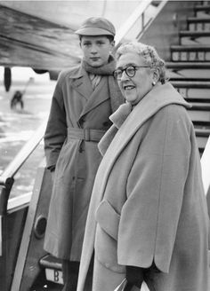 Agatha Christie with her only grandson, Mathew Prichard, in 1955. Photograph: Hulton Archive/Getty Images