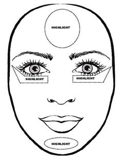 OVAL FACE- How to contour & highlight~                You do not need to contour as your face shape is already symmetrical  You can experiment as oval faces can suport most make up trends  Just remember that light shades appear more prominent and darker shades decrease the size of the area