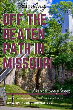 Off the Beaten Path in Missouri. 12 Cool and Unique Places to See in Missouri, TRAVEL, This is part of our Off the Beaten Path series highlighting a new state every Saturday. St Louis, Branson, Springfield and the Ozarks are great for va. Branson Missouri, Kansas City Missouri, Rv Parks In Missouri, Osage Beach Missouri, Missouri Hiking, Springfield Missouri, Best Places To Travel, Travel Usa, Solo Travel