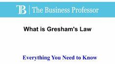 What is Gresham's Law  TheBusinessProfessor.com  #TheBusinessProfessor #entrepreneurship #startup #business #businessowner #businessowners #law #lawschool #businessschool #Gresham'slaw Law School, Business School, Entrepreneurship, Need To Know, Professor, Instagram, Teacher