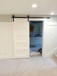 #basement sliding door