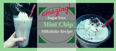 You won't believe how close this is to a drive-through diet busting milkshake! There is a secret ingredient that you might think you don't like until you try it in this recipe. Even my teenager is obsessed with these delicious thin mint chocolate chip milkshakes!