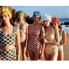 "62 Likes, 2 Comments - KaRMA Positivo (@karmapositivo) on Instagram: ""Love this Miu Miu campaign #swimmingbonnet #swimcap #swimwear  #Repost @elsa.brisinger ・・・ This…"""