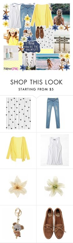 """""""//newchic eleven♡"""" by tropical-songwriter ❤ liked on Polyvore featuring Camp, Sharpie, American Eagle Outfitters, Clips and Bass Weejuns"""