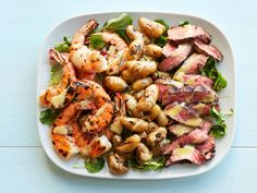 Grilled Surf and Turf Salad recipe from Food Network Kitchen via Food Network