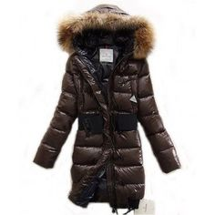 Moncler Lucie New Pop Star Coat Women Down Brown