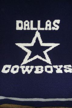 Dallas Cowboys Crochet Crocheted Afghan Blanket by maltesedreamer