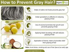 Home remedies for gray hair include the use of natural ingredients such as Indian gooseberry, neem oil, henna, amaranth, black tea and salt, ginger and honey, sesame and chyawanprash. Other home remedies include healthy intake of food containing protein, iron, vitamins and application of oil like coconut oil. Before we understand, why hair grays, it is important to know the structure of hair to fully grasp the mechanism behind graying of hair.