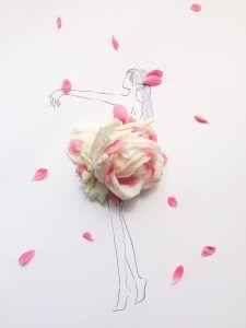 花びらを使った大胆アートにうっとり 自分でも好きな花でつくってみない 花 イラスト フラワーアート フローラル