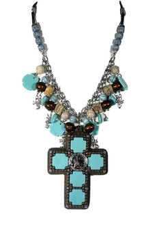 Christmas Gift for her Indonesian Coral and Southwest Ribbon Turquoise Necklace Fossil stone Southwest American Turquoise