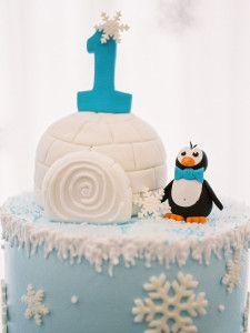 Top of Cake from a Winter ONEderland Birthday Party via Kara's Party Ideas KarasPartyIdeas.com (9)