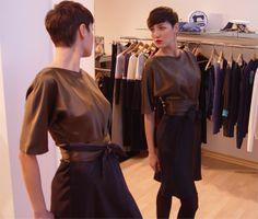 Farb- und Stilberatung mit www.farben-reich.com - zweifarbiges Seidenkleid von m.a.p.h.i.a - Modeatelier auf DaWanda.com