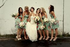 Goofy photos let you and your bridesmaids show off your individual personalities. They're also great for those in the party who don't feel comfortable posing.Related: 50 Ideas for a Vintage-Inspired Wedding
