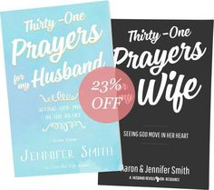 BUY 2 BUNDLES & GET FREE SHIPPING (USA ONLY) TAKE THE 31-DAY MARRIAGE PRAYER CHALLENGE, WE DARE YOUR MARRIAGE! HOW DOES THE 31 DAY CHALLENGE WORK? 1. Get this bundle 2. Pick a day to start together 3. Pray each day's prayer for you spouse for 31 days in a row 4. If you miss a day, you start over :) 5. Share on soci