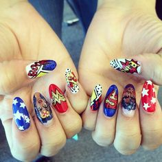 Obsessing over @zendaya thomas Zswagger's mega-awesome superhero nails! What are you rocking this #ManicureMonday?
