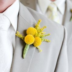 48 trendy wedding ideas yellow and gray billy balls Yellow Boutonniere, Groom Boutonniere, Boutonnieres, Billy Balls, Yellow Grey Weddings, Gray Weddings, Trendy Wedding, Wedding Styles, Dream Wedding