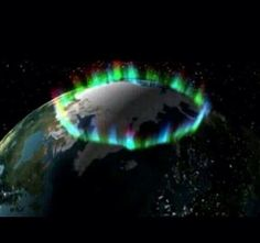 Ring of Fire.. The northern lights, as photographed by NASA, from space.