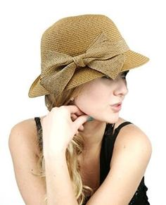 NYfashion101 Spring Summer Side Flip Cloche Bucket Hat w/ Woven Bow Accent by Best Sellers