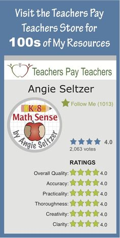 Click to view popular Multi-Match card sets and bundles for Grades 3-5 at my Teachers Pay Teachers store. Also read the reviews. Kids love 'em! These games promote math discussion and lead to deeper understanding and fluency. ~by Angie Seltzer