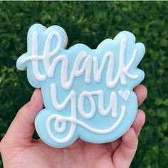 """110 Likes, 10 Comments - Tony and Heather (@kaleidacuts) on Instagram: """"Sometimes, simple elegance is best. LOVING @cadiescookies creation using our thank you cutter and…"""""""