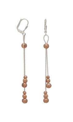 Earrings with Copper-Plated Brass Crimp Covers and Sterling Silver-Filled Chain - Fire Mountain. Again simple but elegant.