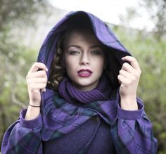 Beautiful garments made from Harris Tweed, Tartan and Cashmere, all made to measure and include our bespoke fitting service. Designed and made in Scotland. British Country Style, Tartan Fashion, Summer Wedding Outfits, Purple Coat, Scottish Plaid, Romantic Outfit, Kinds Of Clothes, Purple Fashion, Harris Tweed