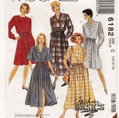 McCall's 6182, A Front Buttoned, Full Skirt, Long/Short Sleeve Dress Sewing Pattern by So Sew Some!